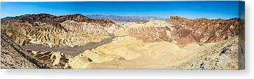 Zabriskie Point In Death Valley Canvas Print by Panoramic Images