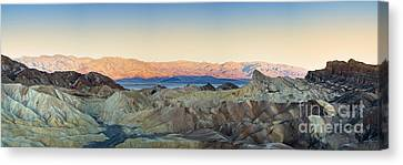 Panamint Valley Canvas Print - Zabriskie Point Panorana by Jane Rix