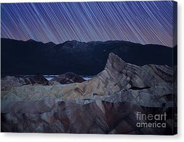 Zabriskie Point Star Trails Canvas Print