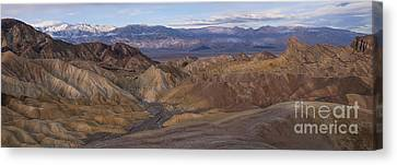 Zabriskie Point Sunrise - Death Valley National Park Canvas Print by Sandra Bronstein