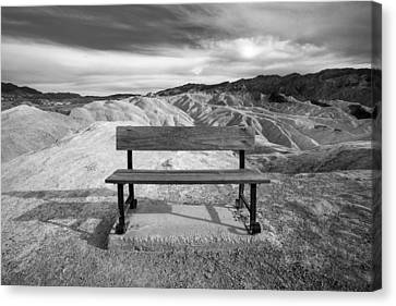 Zabriskie's Bench Canvas Print by Peter Tellone