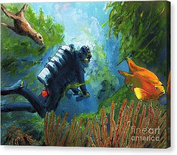 Zac In His Office Canvas Print by Randy Sprout