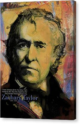 Zachary Taylor Canvas Print by Corporate Art Task Force