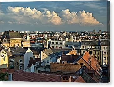 Zagreb Rooftops Canvas Print by Steven Richman