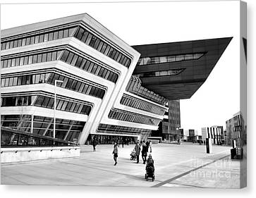 Zaha Hadid Library Center Wu Campus Vienna Canvas Print