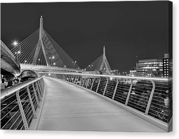 Zakim Bridge Bw Canvas Print