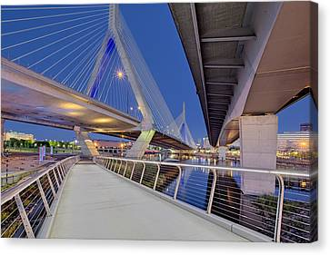 Zakim Bridge Twilight In Boston Canvas Print