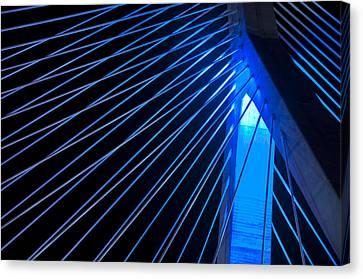 Zakim In Blue - Boston Canvas Print by Joann Vitali