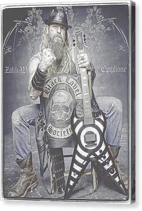 Zakk Wylde 2 Canvas Print by Robert Rhoads