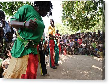 Troupe Canvas Print - Zambian Theatre Group Performance by Matthew Oldfield