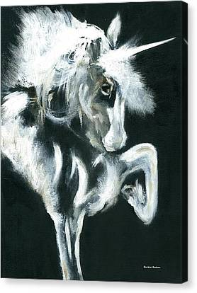 Canvas Print featuring the painting Unicorn by Barbie Batson