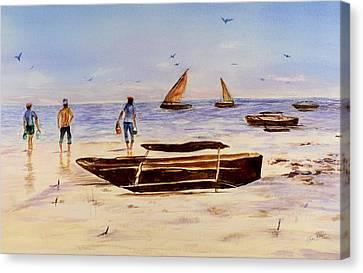 Zanzibar Forzani Beach Canvas Print
