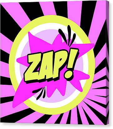 Super Girl Canvas Print - Zap by Anna Quach