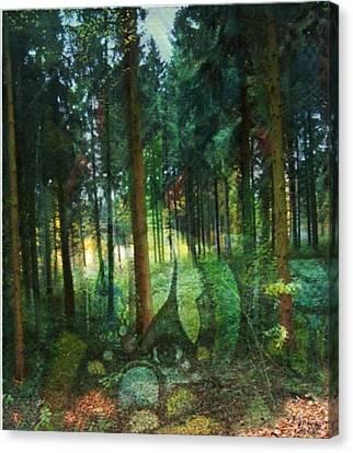 Zauberwald Canvas Print by Gertrude Scheffler