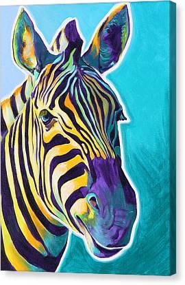 Zebra - Sunrise Canvas Print by Alicia VanNoy Call