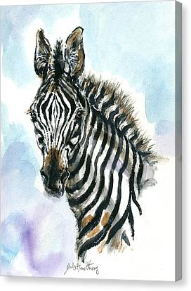 Zebra 1 Canvas Print by Mary Armstrong