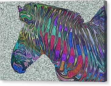 Zebra 2- Happened At The Zoo  Canvas Print by Jack Zulli
