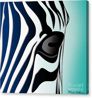 Pittie Canvas Print - Zebra 2 by Mark Ashkenazi