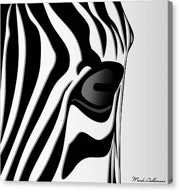 Zebra 3 Canvas Print by Mark Ashkenazi