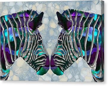 Genus Canvas Print - Zebra 5 by Jack Zulli