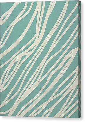 Zebra Canvas Print by Aged Pixel