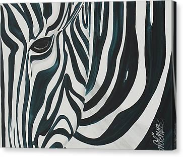 Zebra Canvas Print by Aliya Michelle