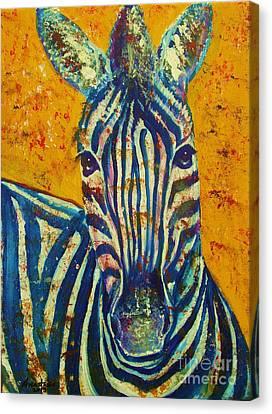 Zebra Canvas Print by Anastasis  Anastasi