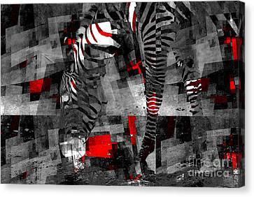 Zebra Art - 56a Canvas Print