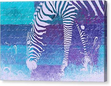 Zebra Art - Bp02t01 Canvas Print by Variance Collections