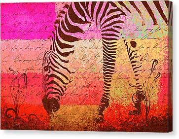Zebra Art - T1cv2blinb Canvas Print by Variance Collections