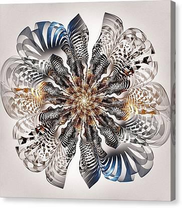 Zebra Flower Canvas Print by Anastasiya Malakhova