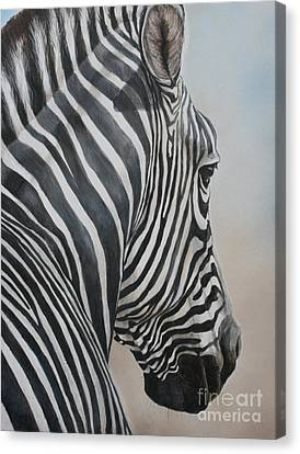 Zebra Look Canvas Print by Charlotte Yealey