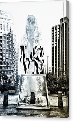 Zebra Love Canvas Print by Bill Cannon