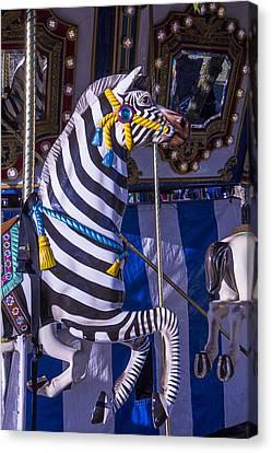Zebra Merry-go-round Canvas Print