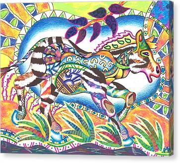 Michael Canvas Print - Zuri - Zebra by Michael Andrew Frain