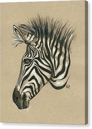 Zebra Profile Canvas Print by Konni Jensen