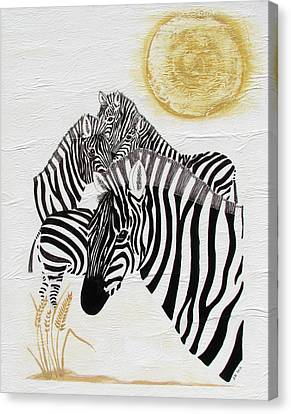 Zebra Quintet Canvas Print by Stephanie Grant