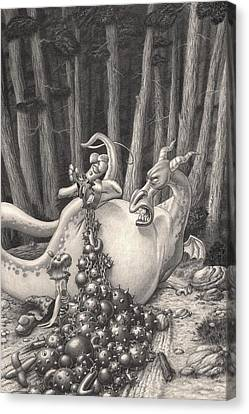 Zelma And The Not-quite-a-dragon Canvas Print by Richard Moore