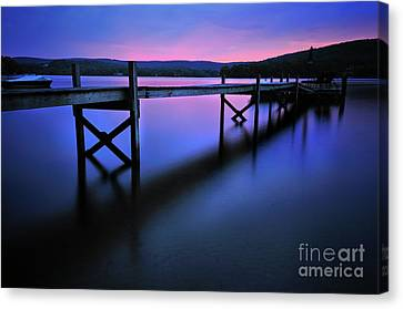 Zen At Lake Waramaug Canvas Print by Thomas Schoeller