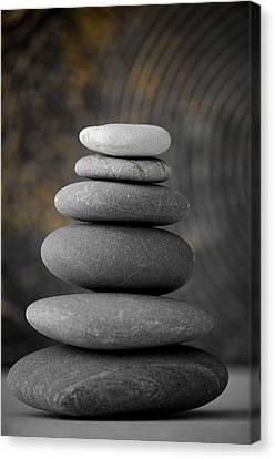 Zen Balance Canvas Print by Riad Belhimer