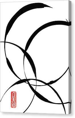 Zen Circles 2 Canvas Print by Hakon Soreide