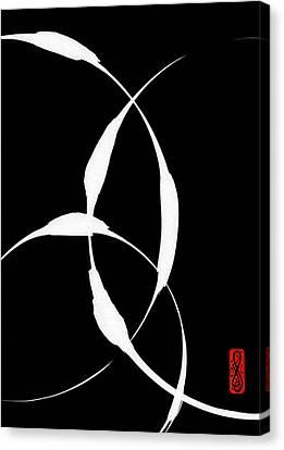 Zen Circles 5 Inverted Canvas Print