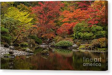 Zen Garden Reflected Canvas Print