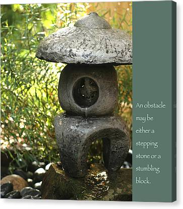Zen Garden With Quote Canvas Print by Heidi Hermes