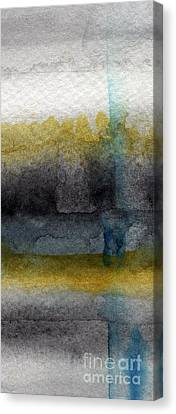 Black And Yellow Canvas Print - Zen Moment by Linda Woods