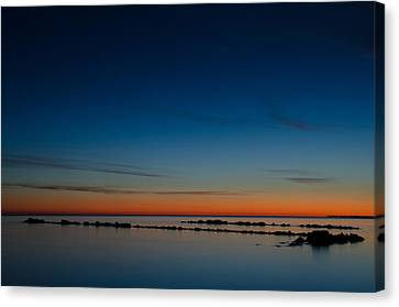 Zen Morning At Ghost Channel Canvas Print