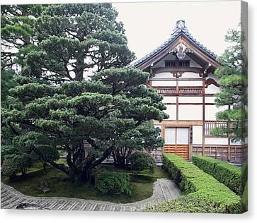 Bamboo House Canvas Print - Zen Priests Quarters - Kyoto Japan by Daniel Hagerman