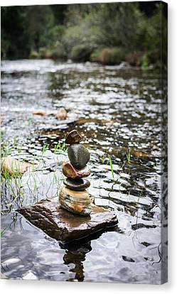 Mystic Setting Canvas Print - Zen River IIi by Marco Oliveira