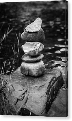 Mystic Setting Canvas Print - Zen River Vii by Marco Oliveira