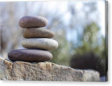 Zen Stones Canvas Print by Ben ONeal